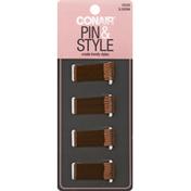 Conair Pins, Pin & Style, Brown