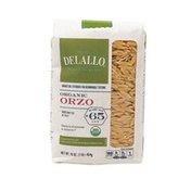 DeLallo Organic Orzo #65