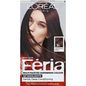 Feria Permanent Haircolour, Gel, Deep Burgundy Brown 36