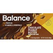 Balance Bar Nutrition Bar, Chocolate Peanut Butter