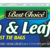 Best Choice Twist Tie Lawn & Leaf Bags