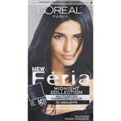 Feria Permanent Haircolour Gel, Cooler, Cool Soft Black M31