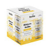 Hella Cocktail Co Ginger Turmeric Bitters & Soda, Non-Alcoholic