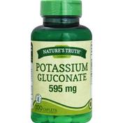 Nature's Truth Potassium Gluconate, 595 mg, Caplets