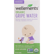 Wellements Gripe Water, Organic, Newborn+