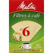 Melitta Coffee Filters, No. 6, Super Premium