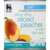 Food Lion Sliced Peaches, in Extra Light Syrup, Light, Yellow Cling