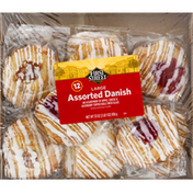 First Street Danish, Cheese & Raspberry, Assorted, Large