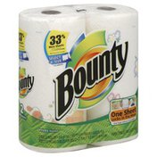 Bounty Basic Paper Towels, Select-A-Size, Prints, Two-Ply