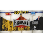 Brawny Paper Towels, Pick-A-Size, White, Giant Rolls, 2-Ply