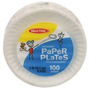 Valu Time Uncoated Paper Plates