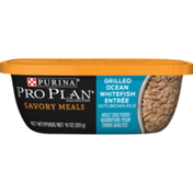 Purina Pro Plan Wet Dog Food, Savory Meals Grilled Ocean Whitefish Entree With Brown Rice