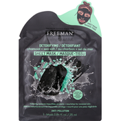 Freeman Sheet Mask, Charcoal + Sea Salt, Detoxifying