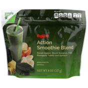 Hy-Vee Action Smoothie Blend Sliced Apples, Sliced Bananas, Kale, Pineapple Tidbits And Spinach