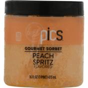 PICS Sorbet, Peach Spritz Flavored, Gourmet