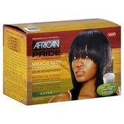 African Pride Relaxer System, Miracle Deep Conditioning, No-Lye, Super