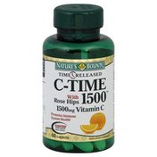 Nature's Bounty Vitamin C, with Rose Hips, 1500 mg, Caplets