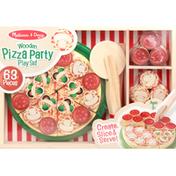 Melissa & Doug Play Set, Pizza Party, Wooden