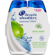 Head & Shoulders Green Apple 2in1 Dandruff Shampoo + Conditioner 23.7 fl oz (2 Count)