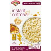 Hannaford Maple & Brown Sugar Instant Oatmeal