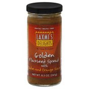 Laxmis Delights Flaxseed Spread, Golden, with Dates and Orange Juice