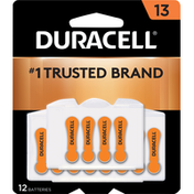 Duracell Batteries, Zinc Air, 13, 12 Pack