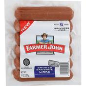Farmer John Sausage Links, Skinless, Smoked