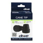 "Drive Cane Tip 1"" Black - 2 CT"
