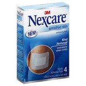 Nexcare Adhesive Pads, Sensitive Skin