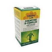 Country Life Coenzyme B-complex Advanced With Benfotiamine, Pqq And Nadh Supports Increased Energy Production, Supports Sugar Metabolism Dietary Supplement Vegan Capsules
