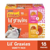 Friskies Lil' Gravies Variety Pack With Chicken, Salmon, Turkey & Roast Beef Flavors Cat Food Complements