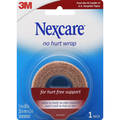 Nexcare No Hurt Wrap, Unstretched, 1 Inch