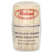 Roland Foods Tooth Picks, First Quality Bamboo, Round