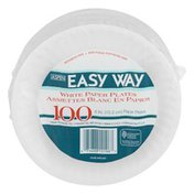 Aspen Clean Easy Way White Paper Plates - 100 CT