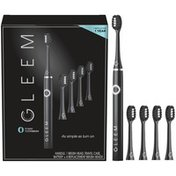 Gleem Electric Toothbrush + 4 Refills, Black