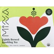 Minna Sparkling Tea, Lime Hibiscus Tea, Lightly Brewed