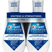 Crest Pro-Health Advanced Energizing Mint Mouthwash with Extra Whitening Oral Rinse