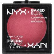 NYX Professional Makeup Blush + Illuminator + Bronzer, Baked, Statement Red BBL02