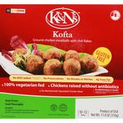 K&N's Kofta, Gluten Free, Ground, Chicken Meatballs, with Chili Flakes