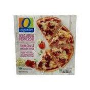 O Organics Uncured Pepperoni Thin Crust Organic Pizza