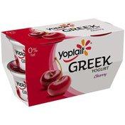 Yoplait Greek Cherry Fat Free Yogurt