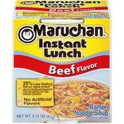 Maruchan Beef Flavor 25% Less Sodium Ramen Noodle Soup
