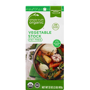 Simple Truth Organic Vegetable Stock, Fat Free