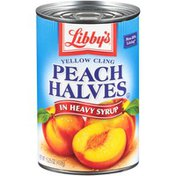Libby's Yellow Cling Peach Halves in Heavy Syrup