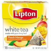 Lipton White Tea Pyramid Tea Bags Peach Mango - 18 CT