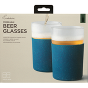5 Rabbit Beer Glasses, Freezable, 12 Ounce