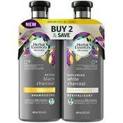 Herbal Essences Bio: Renew Detox Black Charcoal and White Charcoal  Bio:Renew Detox Black Charcoal Shampoo and White Charcoal Conditioner Set
