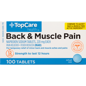 TopCare Back & Muscle Pain Naproxen Sodium 220 Mg Pain Reliever/Fever Reducer (Nsaid) Tablets