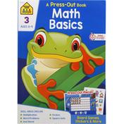 School Zone Book, A Press-Out, Math Basics