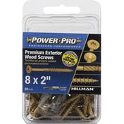 Power Pro Wood Screws, Premium Exterior